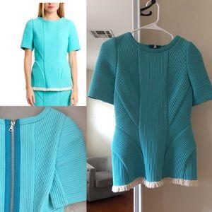 3.1 Phillip Lim shirt, blue, zip back, heavy
